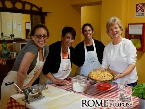 Bryana in cooking classes in Italy