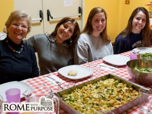 Eating Together after Italian cooking classes