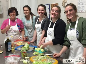 Cooking with Febe, our Italian cook